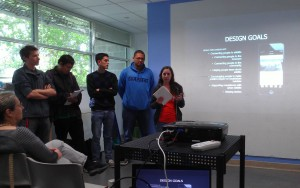 Saint Mary's College Students present their app design ideas to Lindsay Wildlife Museum Staff. Photo by Steve Bachofer